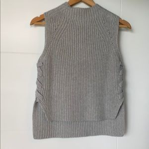 Hi low mock neck sweater